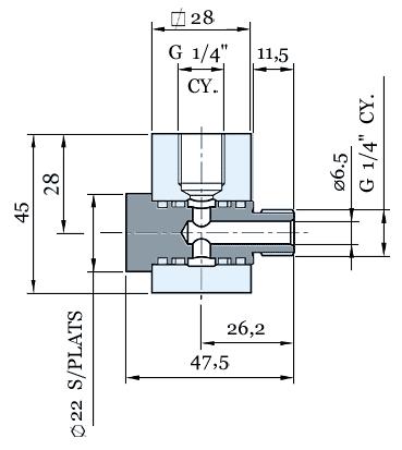 "SN5222E Raccord rotatif d'équerre bras rigide Mâle et femelle 1/4"" BSP"