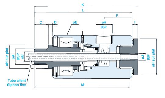 SN35 siphon fixe